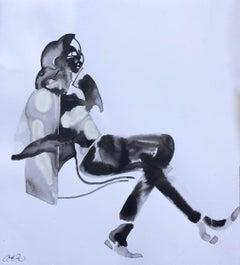 Sit Annelise LaFlamme Ink artwork on paper