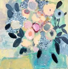 Marigold Maison Autumn Rose Acrylic painting on stretched canvas