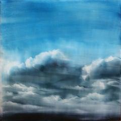 Cold Sun Brian Sostrom, Acrylic painting on acrylic paint on plexiglass