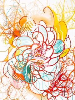 Mind Swirl Cameron Limbrick, Acrylic painting on stretched canvas
