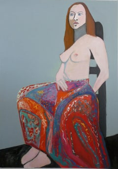 The Skirt Carolyn Schlam, Oil painting on stretched canvas