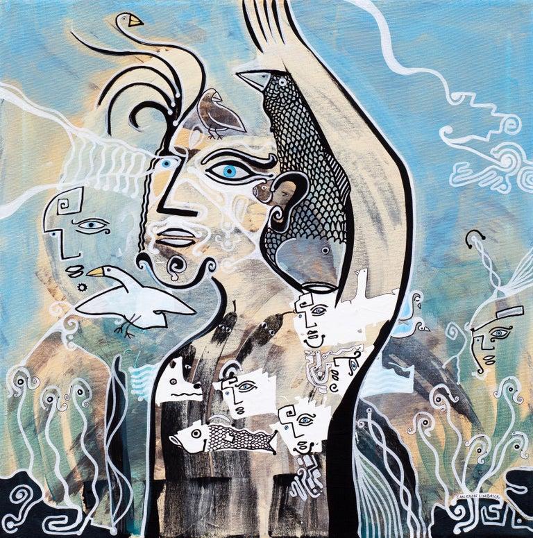 Greetings Cameron Limbrick, Acrylic painting on stretched canvas - Painting by Cameron Limbrick