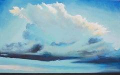 Thunder Maker Benjamin Thomas, Acrylic painting on stretched canvas