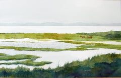 Where the Wild Ponies Roam Bill Kreitlow, Watercolor painting on paper