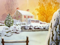 White Acre Farmhouse Bill Kreitlow. Watercolor painting on paper
