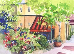 Cafe M Catherine McCargar, Watercolor painting on paper