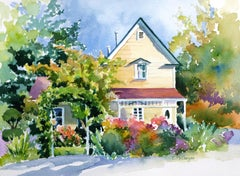 Town House Catherine McCargar, Watercolor painting on paper