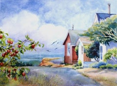 Cottages by the Sea Catherine McCargar, Watercolor painting on paper