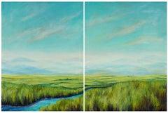 Toward Yosemite Carole Moore, Acrylic painting on stretched canvas