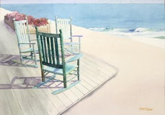 Conversation Cluster Bill Kreitlow, Watercolor painting on paper