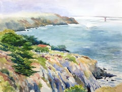 View from Point Bonita Catherine McCargar, Watercolor painting on paper