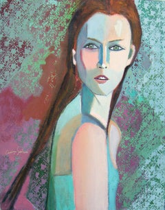 Celadon Carolyn Schlam, Oil painting on stretched canvas