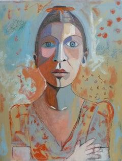 Frida Carolyn Schlam,Oil painting on masonite board