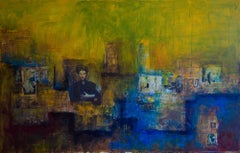 Black Bird, Mixed Media on Canvas