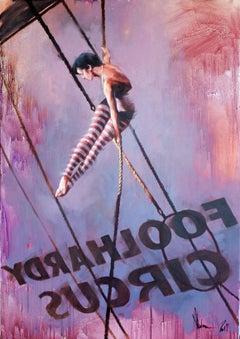 Princess of the circus., Painting, Oil on Canvas