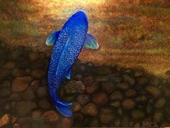 La Poissan Bleu, Painting, Acrylic on Canvas