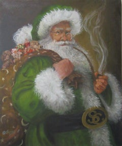 2017 SANTA CLAUS, Painting, Oil on Canvas