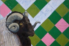 Fleece or Pasture, Painting, Oil on Wood Panel