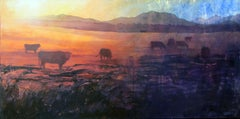 Ghosts of the Gathering Dusk, Painting, Acrylic on Canvas
