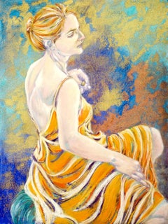 Every grace and music of her face, Painting, Pastels on Paper