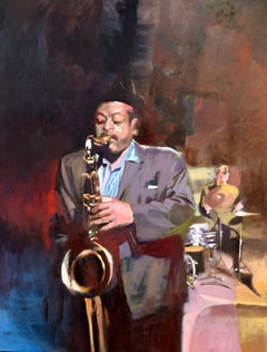 Ben Webster Study, Painting, Oil on Canvas