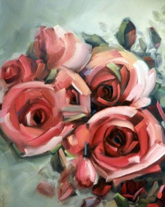 Amid the Scent of Roses, Painting, Oil on Canvas