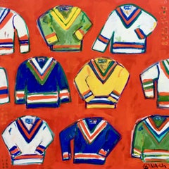 Tennis sweaters, Painting, Acrylic on Canvas