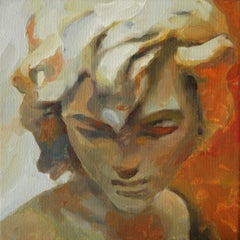 Mix in yellow 2 (20 x20 cm.), Painting, Oil on Canvas