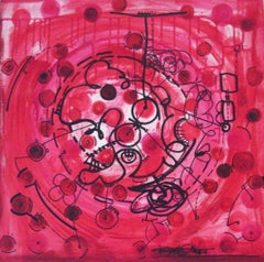 Red Carnival, Painting, Acrylic on Canvas