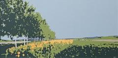 Sunflower Field, Painting, Acrylic on Canvas