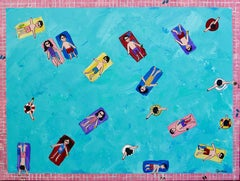 Everybody in the Pool, Painting, Acrylic on Canvas