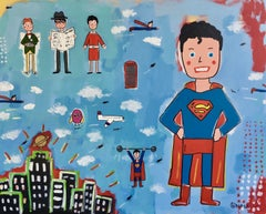 Superman, Painting, Acrylic on Canvas