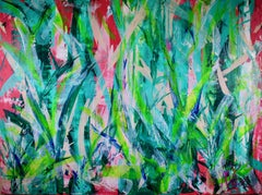 Ferns Forest, Painting, Acrylic on Canvas