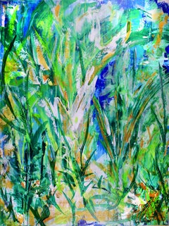 Magic Spectra (Green Forest), Painting, Acrylic on Canvas