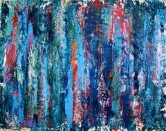 Turbulent night storm, Painting, Acrylic on Canvas