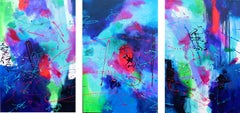 The Fortune Teller Triptych, Painting, Acrylic on Canvas
