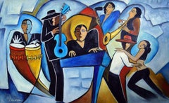Blue Salsa, Painting, Oil on Canvas