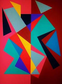 Lanzamiento/ Composición Concreta 6, 2017, Painting, Acrylic on Canvas