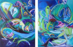 Energy Diptych, Painting, Oil on Canvas