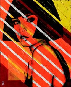 Lady Orange, Painting, Acrylic on Canvas