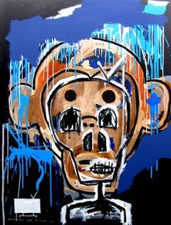Monkey see, monkey do (imitator), Mixed Media on Canvas