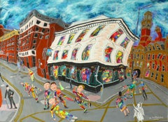 The Bull's Head pub, Manchester, With an Angel, Painting, Acrylic on Other
