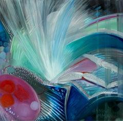 Insektum - 21st Century, Oil, Abstract Painting by Dana Buchel