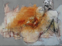 Nude - 21st Century, Oil Paint, Figurative Painting by Michal Bajsarowicz