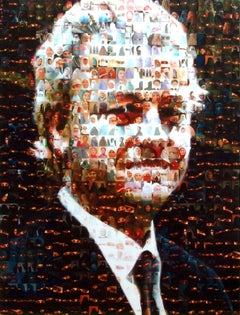 The Prophet (Geert Wilders with Muslims), Painting, Acrylic on Wood Panel