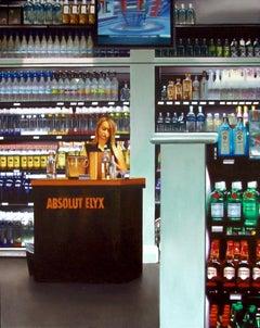 Liquor Store, Painting, Acrylic on Wood Panel