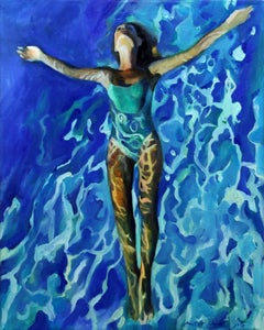 Transparency of water   40 x 50 cm, Painting, Oil on Canvas