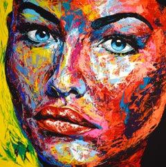 ORIGINAL 926 PORTRAIT, Painting, Acrylic on Canvas