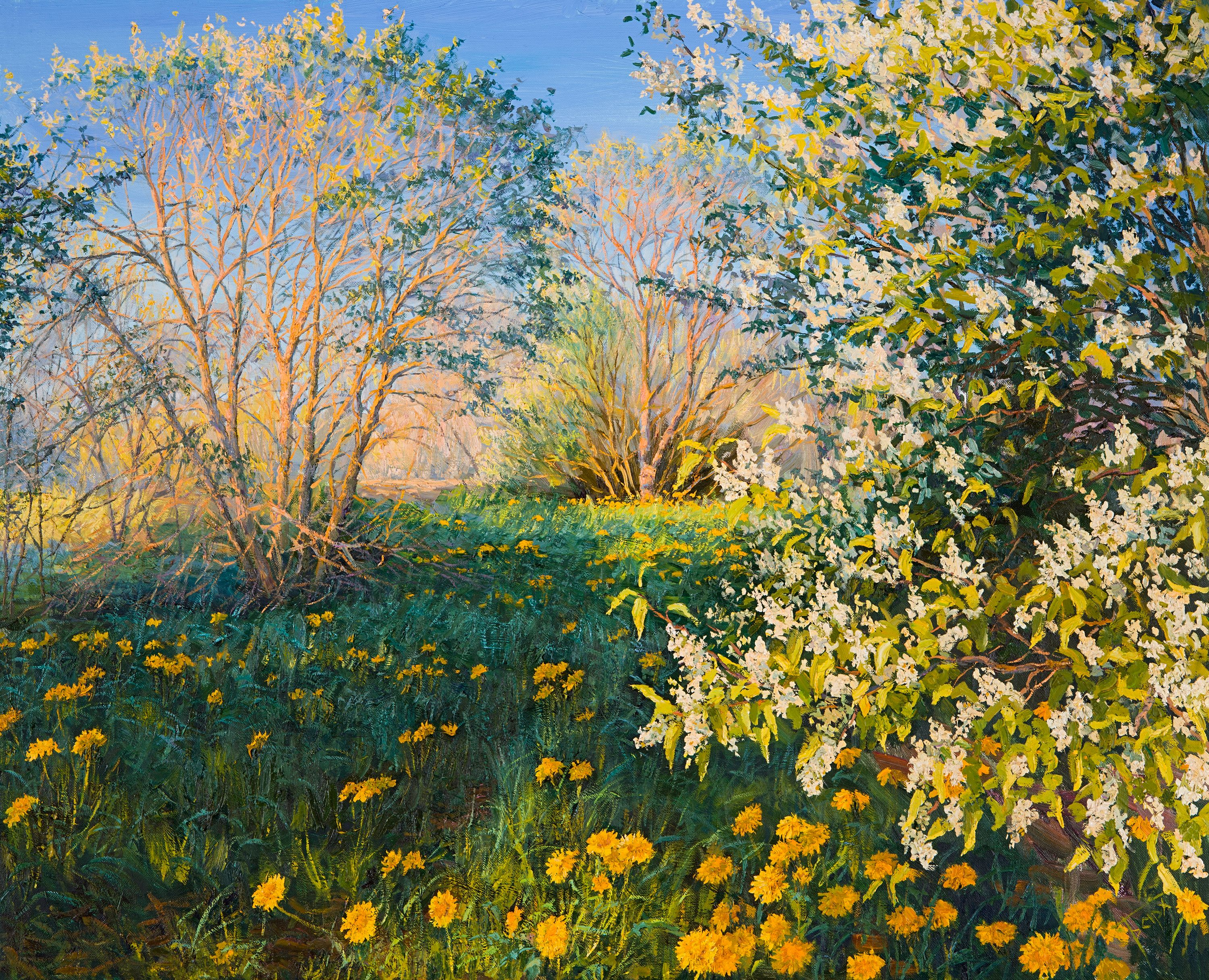 Spring Landscape, Painting, Oil on Canvas