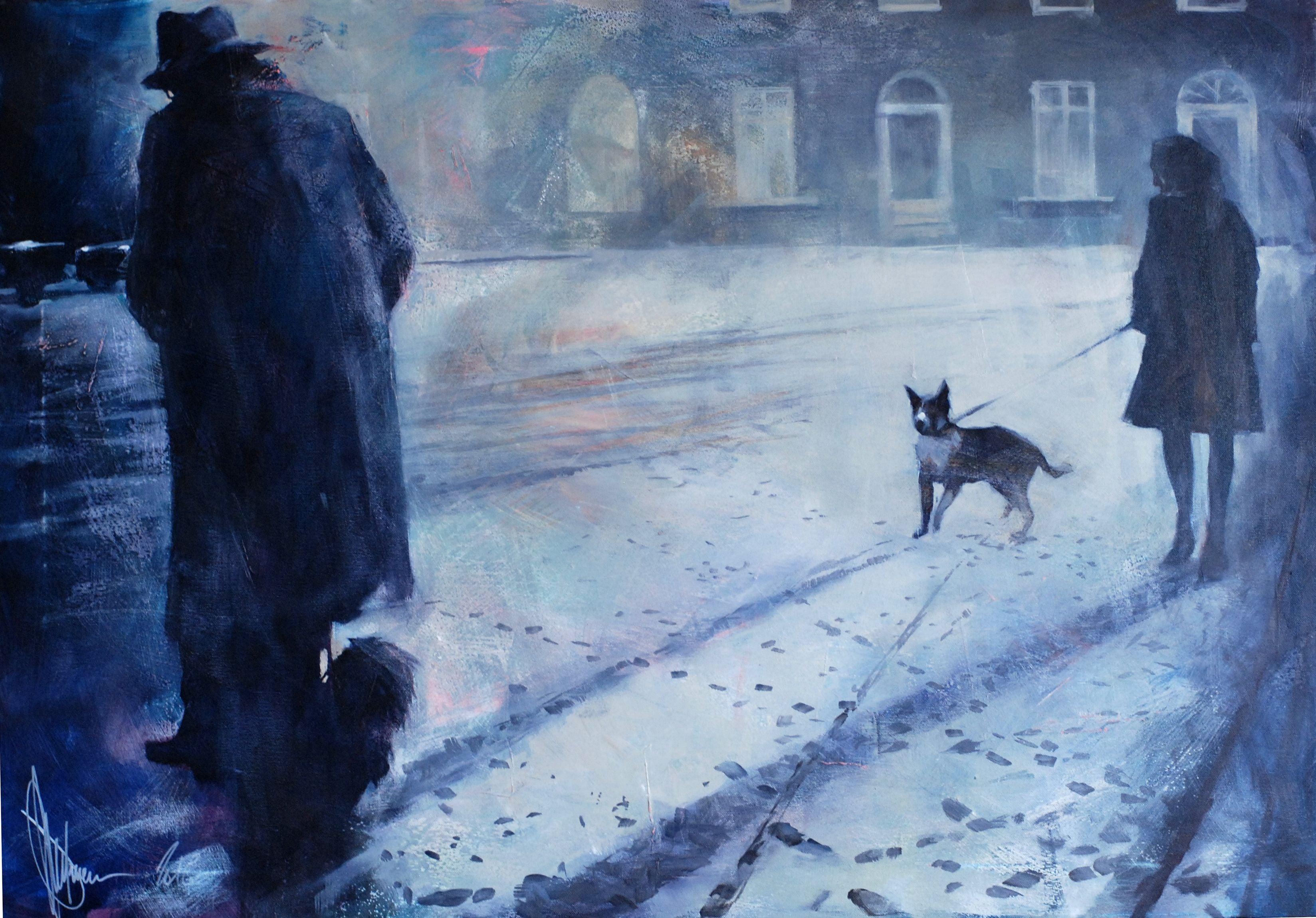 84035c738742 Igor Shulman - Night from Thursday to Friday., Painting, Oil on ...